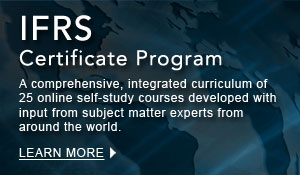IFRS Certificate Program: A comprehensive, integrated curriculum of 25 online self-study courses developed with input from subject matter experts from around the world. 