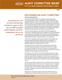 IFRS Primer for Audit Committees